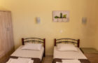 Poolside double room w/ two single beds